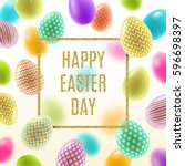 easter vector illustration with ... | Shutterstock .eps vector #596698397