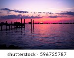 clear water  fl sunsets near... | Shutterstock . vector #596725787