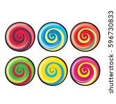 colorful sweet lollipop... | Shutterstock .eps vector #596730833