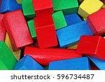 wooden toy blocks background....