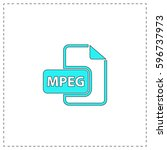 mpeg outline vector icon with...
