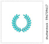 victory wreath outline vector...