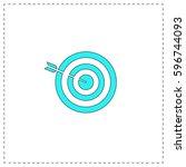 bullseye outline vector icon...