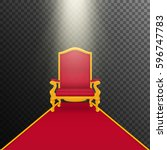 falling rays on royal armchair... | Shutterstock .eps vector #596747783