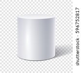 white cylinder isolated on... | Shutterstock .eps vector #596752817