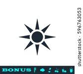 sun icon flat. black pictogram...