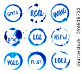 internet acronyms collection of ... | Shutterstock .eps vector #596818733
