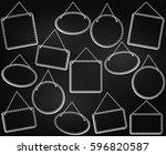 chalkboard style hanging frames ... | Shutterstock .eps vector #596820587