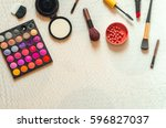 palette and brush for fashion... | Shutterstock . vector #596827037