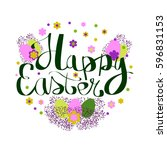 greeting card for happy easter | Shutterstock .eps vector #596831153