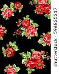 beautiful roses | Shutterstock . vector #596835317