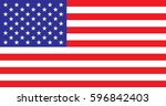 flag united states of america... | Shutterstock .eps vector #596842403
