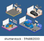 isometric flat 3d isolated... | Shutterstock .eps vector #596882033