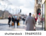 blurred image of people walking ... | Shutterstock . vector #596890553