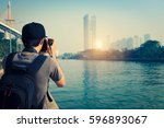 photographer is taking a...   Shutterstock . vector #596893067