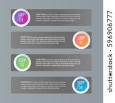 infographic templates for... | Shutterstock .eps vector #596906777