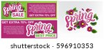 spring sale banners poster tag... | Shutterstock .eps vector #596910353
