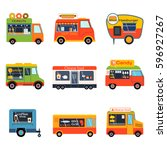 street food festival color... | Shutterstock .eps vector #596927267