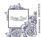 vintage delicate invitation...   Shutterstock .eps vector #596957573