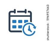 calendar icon | Shutterstock .eps vector #596957663