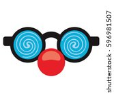 April Fool Clown Glasses And...
