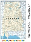 alabama state map and location... | Shutterstock .eps vector #596983757