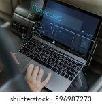 illustration of global... | Shutterstock . vector #596987273