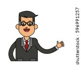 businessman icon image  | Shutterstock .eps vector #596991257
