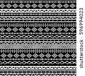 ethnic boho  aztec seamless... | Shutterstock . vector #596994023