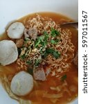 Small photo of have lunch Rice vermicelli thicken soup