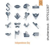 4th of july  independence day... | Shutterstock .eps vector #597012287