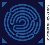 fingerprint scanning   digital... | Shutterstock .eps vector #597014543