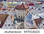tallinn  estonia   circa may... | Shutterstock . vector #597018323