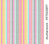 striped seamless pattern. lines ... | Shutterstock .eps vector #597032897