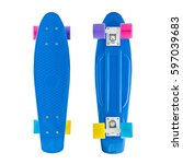 skateboard  collage  on a... | Shutterstock . vector #597039683