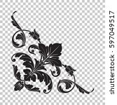 corner ornament in baroque style | Shutterstock .eps vector #597049517
