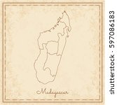 madagascar region map  stilyzed ...