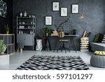 multifunctional studio flat... | Shutterstock . vector #597101297