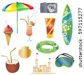 set with vector elements that...   Shutterstock .eps vector #597115277