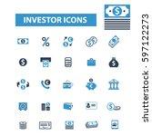 investor icons | Shutterstock .eps vector #597122273