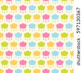 seamless vector pattern with... | Shutterstock .eps vector #597130367