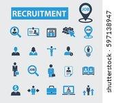 recruitment icons | Shutterstock .eps vector #597138947