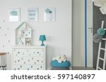 White Baby Bedroom With Dresse...