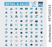 retail   sales icons  | Shutterstock .eps vector #597143213