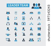 leader team icons  | Shutterstock .eps vector #597143243