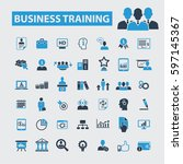 business training icons  | Shutterstock .eps vector #597145367