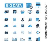 big data icons | Shutterstock .eps vector #597150257