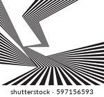 black and white stripe line... | Shutterstock .eps vector #597156593