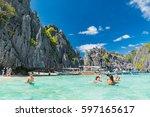 palawan  philippines   january... | Shutterstock . vector #597165617