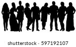 vector  isolated  silhouette of ... | Shutterstock .eps vector #597192107